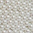 【メール便可】 パールボール サイズ5種♪ < 球体・ホワイトパール > 3mm・4mm・5mm・6mm・8mm / ネイル ジェルネ…