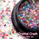 【メール便可】 Crystal Crash (クリスタルクラッシュ) / ネイル ジェルネイル ビジュー ガラスストーン シェル風 カラフル パーツ レジン U...