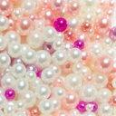 【メール便可】MIXカラーパールボール(ピンク) 2mm〜5mm ケース入 / ネイル ジェルネイル ネイルアート ネイルパー…