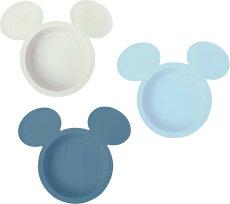 アイコン小皿3枚セットミッキーマウスエクリュシリーズブルーピンクディズニー日本製ベビー食器錦化成あす楽A倉庫