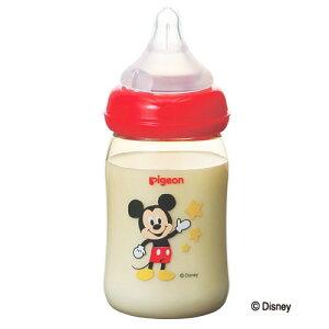 ピジョン 母乳実感 哺乳びん(プラスチック製 ディズニー柄 ミッキー)160ml 乳首(SSサイズ)pigeon 新生児 広口タイプ かわいい Disney 哺乳瓶 拒否 在庫有時あす楽 B倉庫
