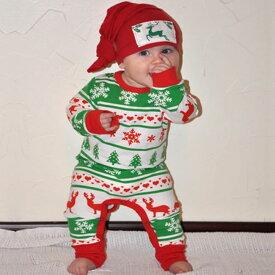 ホビー コスプレ 変装・仮装 コスチューム ロンパース 長袖 つなぎ クリスマス サンタ ベビー 子供 男の子 女の子 ニューボーンフォト