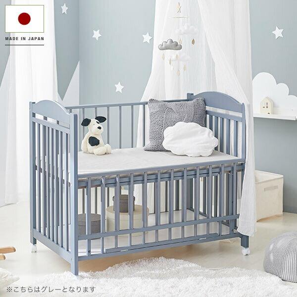 ベビーベッド ベビー ベッドフレーム 赤ちゃんベッド 赤ちゃん キッズ 子供 国産 日本製 おしゃれ かわいい 子供部屋 フレームのみ すのこ 高さ 調節 収納 木製 シングル baby 海外風 民泊 寮 ゲストハウス シェアハウス