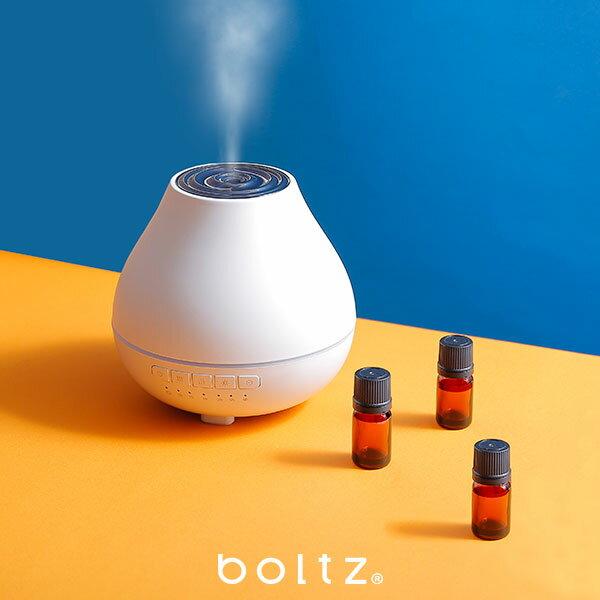 [全品クーポンで5%OFF 5/26 18:00-5/29 0:59] 【公式】boltz アロマディフューザー 超音波 ミスト 香り 癒し オシャレ シンプル スマート アロマオイル対応 美容・健康家電