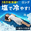 [クーポンで300円OFF 7/15 18:00〜7/19 0:59] 敷きパッド 80×190cm ソルティクーラー 塩の力で冷やす クール敷きパッド 冷感 ...