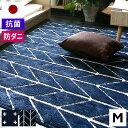 ラグ 洗える 柄 国産 ラグマット 日本製 3畳 カーペット 190×190 シャギー センターラグ じゅうたん 抗菌 防ダニ ウ…