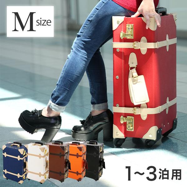 キャリーバッグ スーツケース キャリーケース トランクケース 旅行カバン キャリーバッグ トランク 旅行カバン Mサイズ カギ付き 鍵 tsaロック トランク おしゃれ かわいい