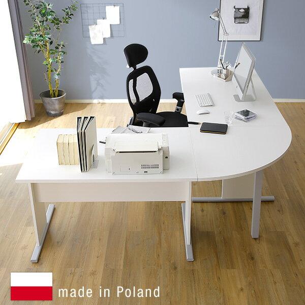 パソコンデスク L字 デスク コーナー PCデスク 机 つくえ デスク ワークデスク オフィスデスク 事務机 学習机 パソコン机 L字型 ヨーロッパ直輸入 ポーランド産 新生活