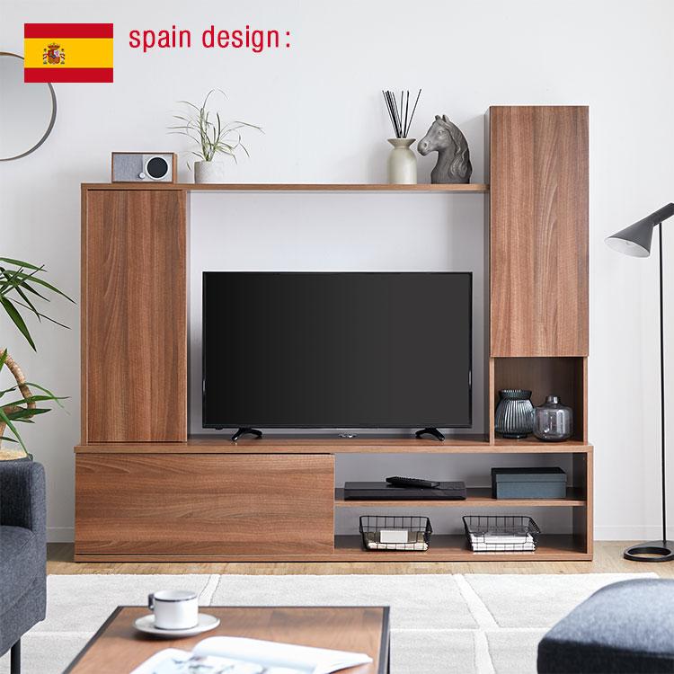 壁面収納 テレビ ハイタイプ テレビ台 壁面 収納 テレビボード 32インチ 32型 42インチ 42型 TV台 棚 木製 TVボード AVボード テレビラック ラック 一体型 180 180cm