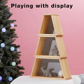 [割引クーポン配布中 7/21 12:00-7/22 0:59] クリスマスツリーボックス ツリー 収納 パイン クリスマス ディスプレイラック デスク収納 ラック