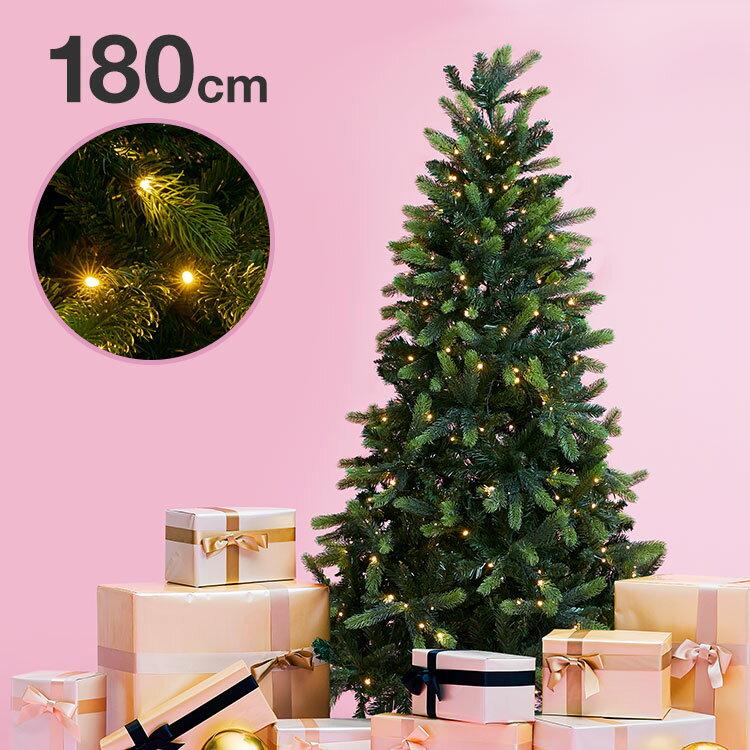 [クーポン500円OFF 4/22 20:00〜4/25 0:59] クリスマスツリー 180cm クリスマス ツリー LED LEDライト 180cmクリスマスツリー シンプル 置物 店舗用 法人用 業務用 ショップ用 簡単組立 ギフト プレゼント