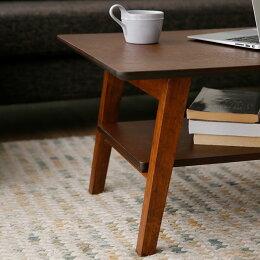 棚板付き折り畳みローテーブル