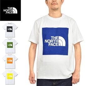 """【SALE】THE NORTH FACE ザ ノースフェイス NT32135""""S/S COLORED SQUARE LOGO TEE""""ショートスリーブ カラード スクエア ロゴ ティー Tシャツ ビッグロゴ 速乾 半袖 トップス アウトドア メンズ レディース 5カラー 国内正規 2021SS 10%OFF"""