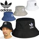 アディダス オリジナルス adidas Originals AJ8995 FQ4641 GN4905 GN4904 BUCKET HAT CORE バケットハット コア トレフォイル アディカラー サファリ スポーツ メンズ レディース UVカット 三つ葉 平天 帽子 4カラー 国内正規 2021SS