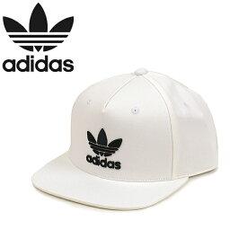 """adidas Originals アディダス オリジナルス BR4950""""AC TREFOIL FLAT CAP""""トレフォイル スナップバック キャップ フラットバイザー ベースボール メンズ レディース 三つ葉 立体刺繍 帽子 ホワイト 国内正規 60%OFF セール"""