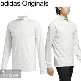 """adidas Originals アディダス オリジナルス CE1816""""HI COLLAR LS TEE""""ハイカラー ロングスリーブ Tシャツ ロンT ロールアップ ハイネック トレフォイル 三つ葉 トップス ストリート スケボー メンズ レディース 長袖 ペールメランジ 国内正規 40%OFF セール"""