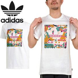 """adidas Originals アディダス オリジナルス DU8362""""EDGEWOOD TEE""""エッジウッド Tシャツ ト ブラックバード カットソー トップス ストリート スケボー メンズ レディース ユニセックス 半袖 ホワイト 国内正規 20%OFF セール"""