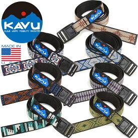 カブー KAVU 11863002 914 BURLY BELT バリー ベルト ウエービング フリーサイズ アウトドア メンズ レディース アメリカ製 雑貨 7カラー 国内正規 10%OFF セール