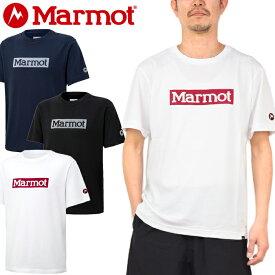 """Marmot マーモット TOMPJA45""""SQUARE LOGO H/S CREW""""スクエア ロゴ Tシャツ ハーフスリーブ クルー ボックス アドベンチャー キャンプ アウトドア メンズ レディース UPF15 UVカット 速乾 半袖 3カラー 国内正規 10%OFF セール"""