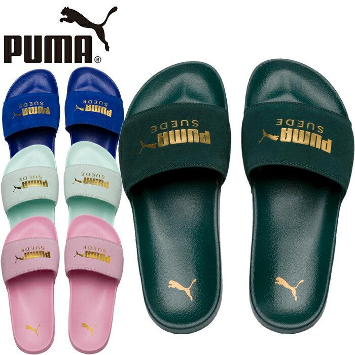 """PUMA プーマ 365758""""LEADCAT SUEDE""""リードキャット スウェード スライド シャワー サンダル スポーツ メンズ レディース 靴 ツッカケ 4カラー 国内正規"""
