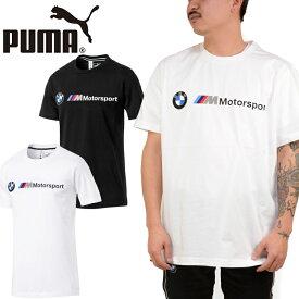 プーマ PUMA 595369 BMW M MOTORSPORTS LOGO TEE ビーエムダブリュー モータースポーツ Tシャツ ストリート カットソー トップス メンズ レディース 半袖 2カラー 国内正規 10%OFF セール