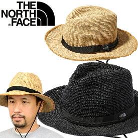 ノースフェイス THE NORTH FACE NN01554 RAFFIA HAT ラフィア ハット 天然草 麦わら 帽子 ストロー 中折れ アウトドア キャンプ メンズ レディース 2カラー 国内正規 2021SS