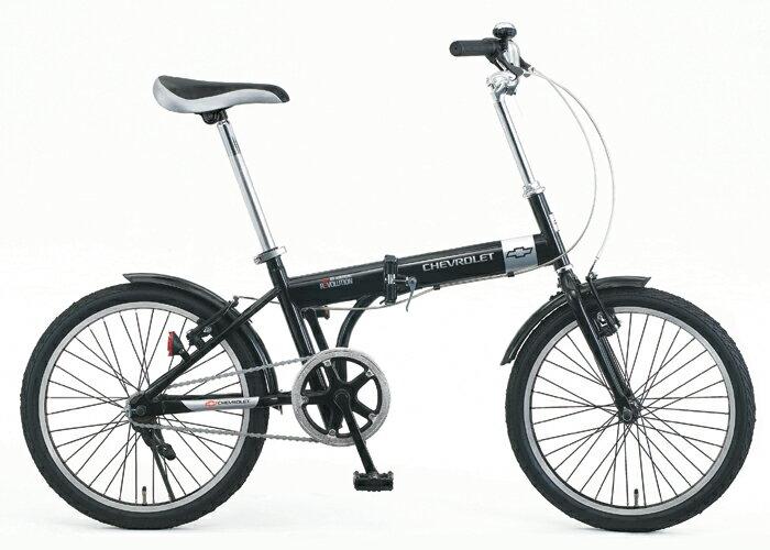 【送料無料】【代引不可】CHEVROLET(シボレー) 折りたたみ自転車 20インチ No.73123 ブラック【北海道・沖縄・離島発送不可】