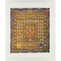 仏画ポスター 胎蔵界曼荼羅 81012