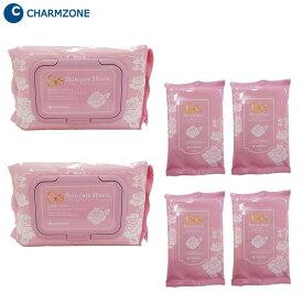 韓国コスメ チャームゾーン Ge スキンケアシート ローズパーフェクトモイスト 160枚(1包60枚×2個、1包10枚×4個)セット RPM160