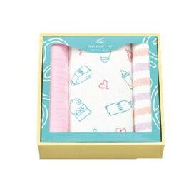 天使のガーゼ ミルクハートギフト タオルセット TE-5007 ピンク