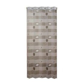 「スヌーピーアコーディオンカーテン GRY」 約幅100cm×丈200cm (11335)