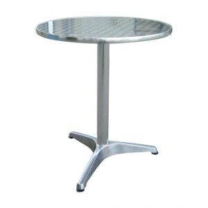 【同梱代引き不可】 アルミテーブル丸 YTS1-60 32618