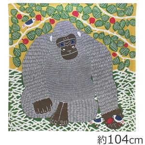 山田繊維 風呂敷(ふろしき) 104 kata kata むすび ゴリラ グリーン 20012-304 PP袋入