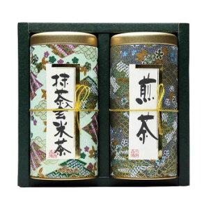 【同梱代引き不可】 宇治森徳 日本の銘茶 ギフトセット(抹茶入玄米茶100g・煎茶シルキーパック3g×13パック) MY-20W