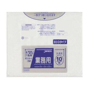 【同梱代引き不可】 ジャパックス 大型ポリ袋120L 半透明 10枚×30冊 DKM94