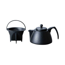 【同梱・代引き不可】 岩鋳 南部鉄器 コーヒーポットセット ブラック 12361