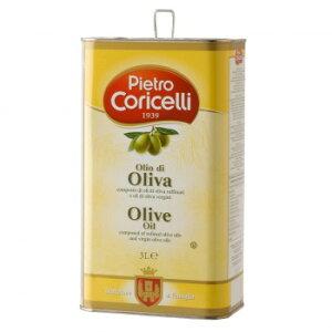 【同梱・代引き不可】 ピエトロコリチェッリ ピュアオリーブオイル 3000ml 4缶セット 36