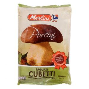 【同梱・代引き不可】 メルリーニ 冷凍ポルチーニ キューブ 1000g 6袋セット 2412