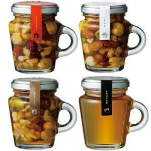 ノースファームストック はちみつ(百花蜜)+ハニーナッツ3種(ドライフルーツ/北海道ハチミツ/シナ)セット 各3個