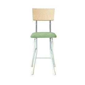 ルネセイコウ 日本製 折りたたみ椅子 フォールディング アッシュウッドチェア ナチュラル/グリーン AWC-48W