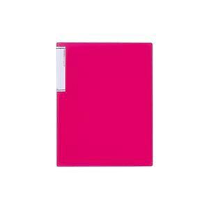 (業務用20セット) LIHITLAB クリアファイル/ポケットファイル 【A4/タテ型】 超スリムタイプ N7110-3 赤
