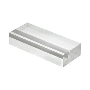 (まとめ) 光 透明アクリルカード立て 20×50×10mm A592-1-6 1パック(6個) 【×4セット】