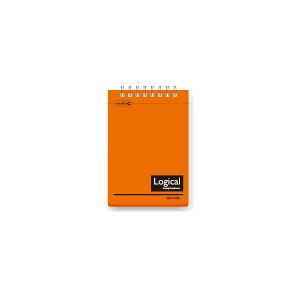 (業務用セット)ナカバヤシ スイング・ロジカルノート/Wリング A7 B罫 PP表紙 オレンジ NW-A708-OR【×20セット】