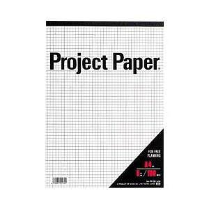 (まとめ) オキナ プロジェクトペーパー(5mm方眼)パッド・A4 【×10セット】