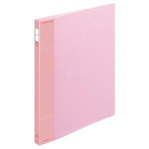 (まとめ) コクヨ ポップリングファイル(スリム) A4タテ 2穴 100枚収容 背幅21mm ピンク フ-PS410P 1冊 【×10セット】