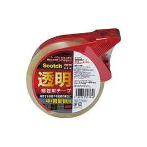 (業務用100セット) スリーエム 3M 透明梱包用テープ カッター付 313D 1PN