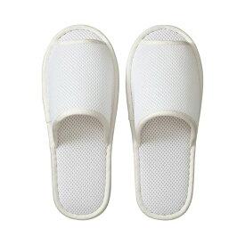 (まとめ) TANOSEE ウォッシャブル メッシュスリッパ ホワイト 1足 【×5セット】