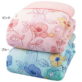 ガーゼ肌掛布団 【ダブル2色組 ピンク×ブルー】 日本製 綿100% 抗菌 防臭 防ダニ テイジン マイティトップ使用