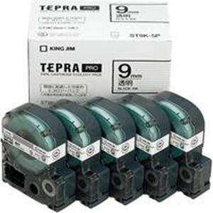 (業務用5セット) キングジム テプラ PROテープ/ラベルライター用テープ 【幅:9mm】 5個入り ST9K-5P 透明