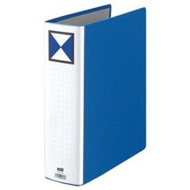 (まとめ) TANOSEE 両開きパイプ式ファイル A4タテ 700枚収容 背幅86mm 青 1冊 【×5セット】